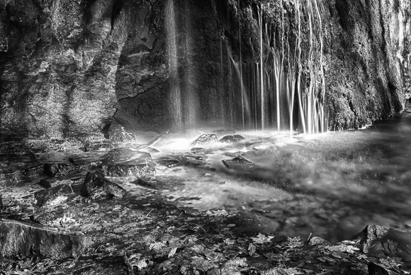 Stephens Creek Falls B&W